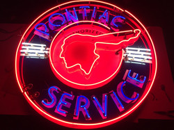 Pontiac Service - Porcelain & Neon
