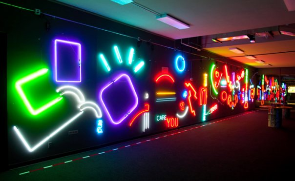 Wall of Neon - The Neon Warrior