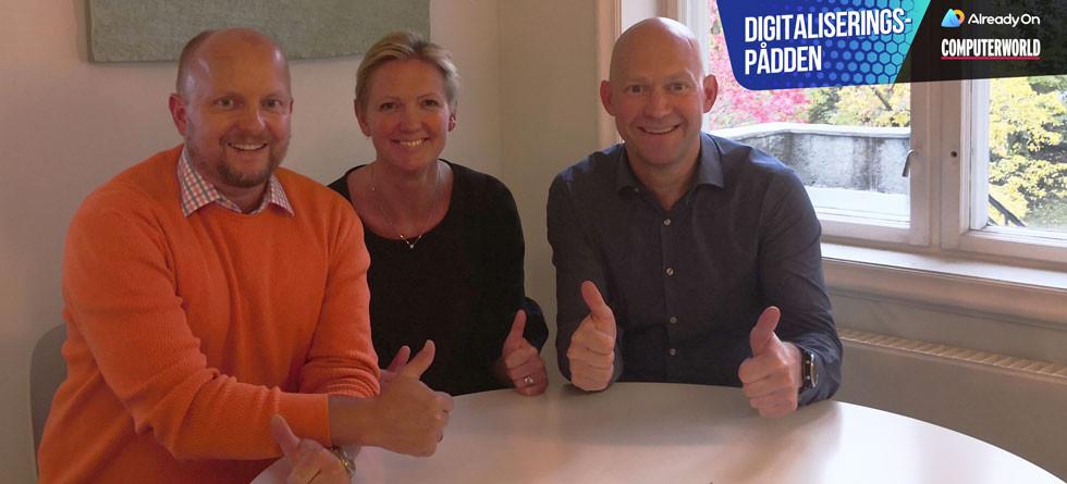 Fra venstre: Dag Rustad, Tale Skjølsvik og Jens Christian Bang