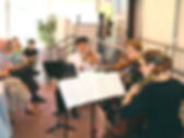 Musicians from the Bay Atlantic Symphony perform during a Bach's Lunch.