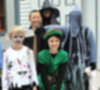 Trick or Treaters visit the Physick Estate for Halloween.