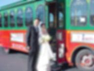 Bridge and groom board MAC's trolley