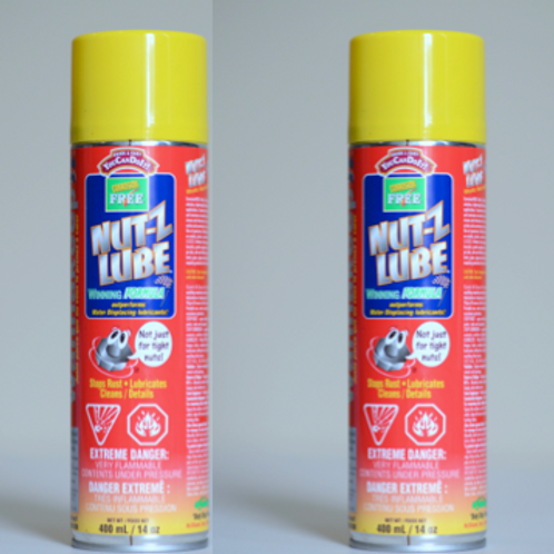 2X400ML Nut-Z Lube sprayboks