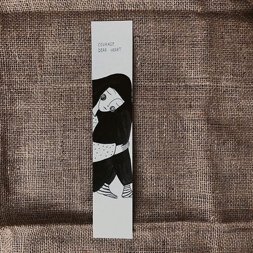 Courage - Illustrated Bookmark