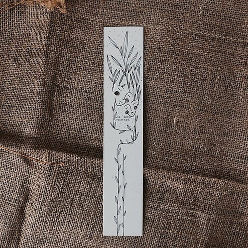 We - Illustrated Bookmark