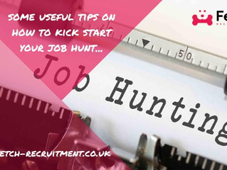 Some useful tips on how to kick start your job hunt...