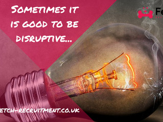 Sometimes it is good to be disruptive...