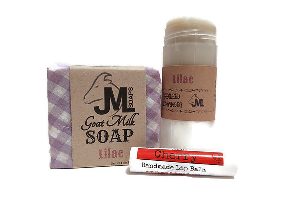 Gift Box: Soap, Solid Lotion Lip Balm