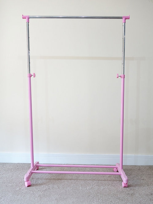 Pink Clothes rack