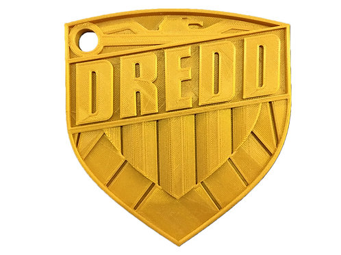 Judge Dredd Badge 1:1 Scale Replica Prop 3D Printed