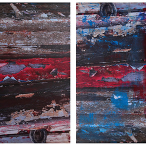 """Diptych. From the series """"Jaffa port surface"""""""