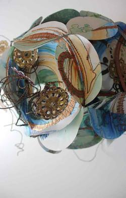 Mixed media paper sculpture
