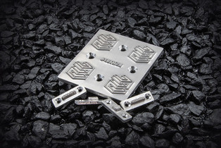 Drilled Holes on magnesium (Ready to be installed with screws on a hot foil stamping unit)