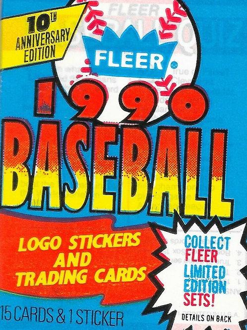 1990 Fleer Baseball SEALED Pack w/ 15 Cards