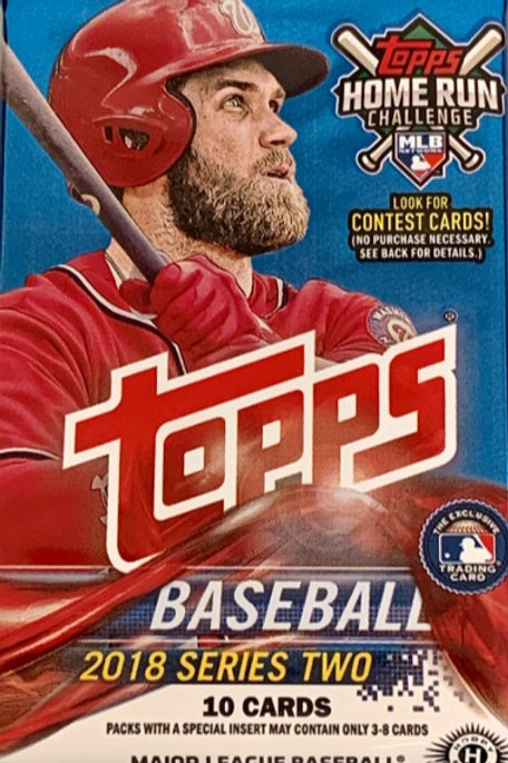 2018 Topps Series 2 Sealed Single Hobby Pack w/ 10 Cards Per Pack
