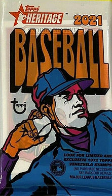 2021 Topps Heritage Retail Fat Pack w/ 15 Cards