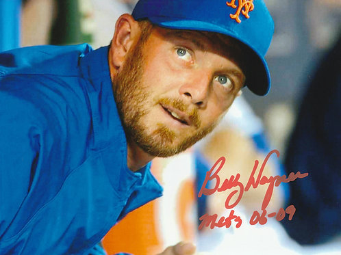 Billy Wagner Hand Signed New York Mets 8x10 w/ Mets 06-09 INSCRIPTION