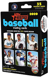 2020 Topps Heritage Walgreens Hanger Pack w/ 35 Cards & 1 Sticker Preview Pack