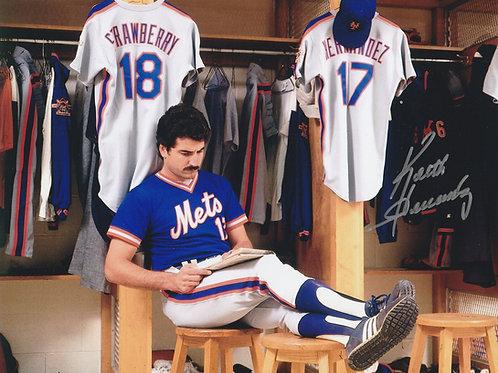 KEITH HERNANDEZ  NEW YORK METS HAND SIGNED Photo Crossword In Locker