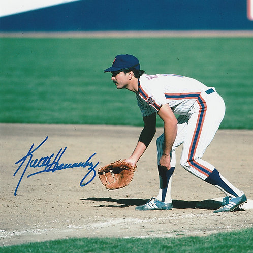 KEITH HERNANDEZ NEW YORK METS HAND SIGNED 1986 Fielding at Shea