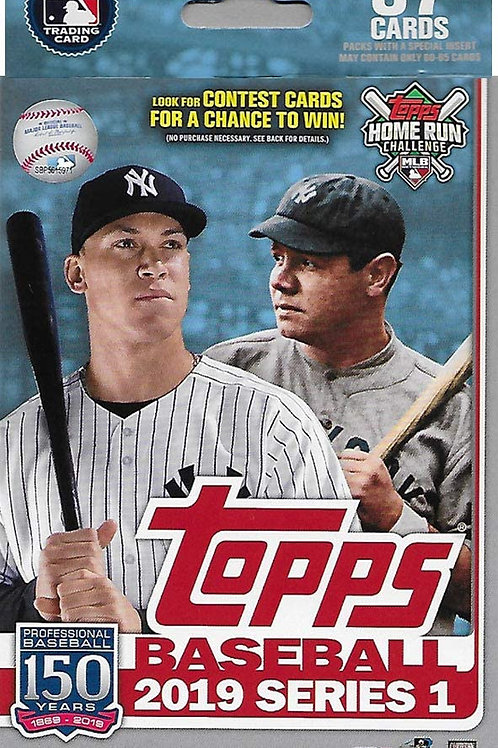 2019 Topps Walgreens EXCLUSIVE Hanger Pack w/ Yellow Parallels