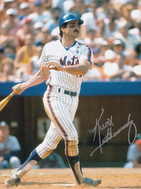 KEITH HERNANDEZ  NEW YORK METS HAND SIGNED 8x10 Batting At Shea