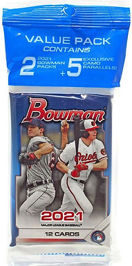 2021 Bowman Retail Fat Pack w/ 2 Packs & 1 Camo Exclusive Pack