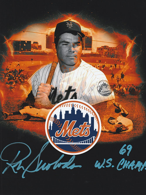 Ron Swoboda Hand Signed Custom New York Mets Collage 8x10