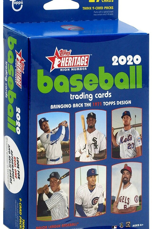 2020 Topps Heritage High Number Hanger Pack w/ 27 Cards