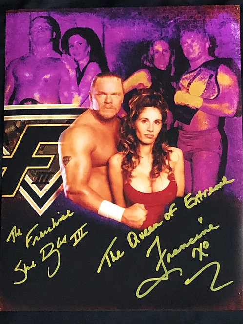 """""""The Franchise"""" Shane Douglas & """"Queen of Extreme"""" Francine DUAL Signed Photo"""
