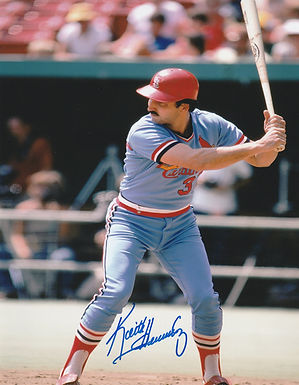 KEITH HERNANDEZ ST. LOUIS CARDINALS SIGNED 8x10 PHOTO