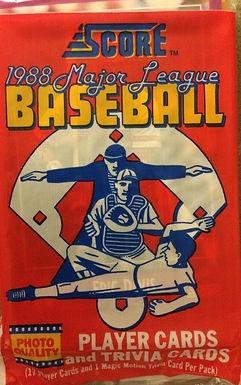 1988 Score Baseball SEALED Pack w/17 Cards
