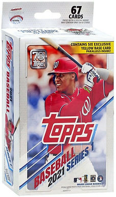 2021 Topps Walgreens EXCLUSIVE 67 Card Hanger Pack (6) Yellow Parallels Per Pack