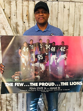 D.J. Dozier Never Released Penn State Poster  *EXCLUSIVE COLLECTION*