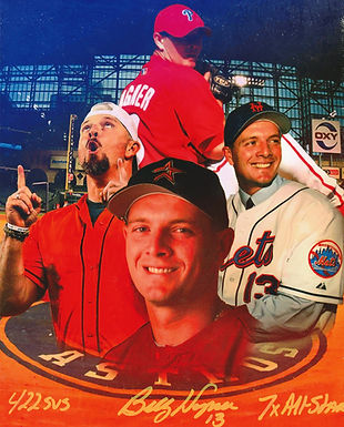 Billy Wagner Career Tribute 8x10 (2 INSCRIPTIONS)