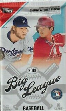 2018 Topps Big League SEALED Retail Pack w/ 10 Cards