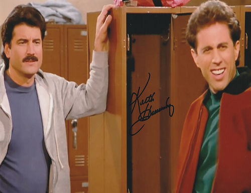 KEITH HERNANDEZ NEW YORK METS HAND SIGNED 8x10 w/ Jerry Seinfeld
