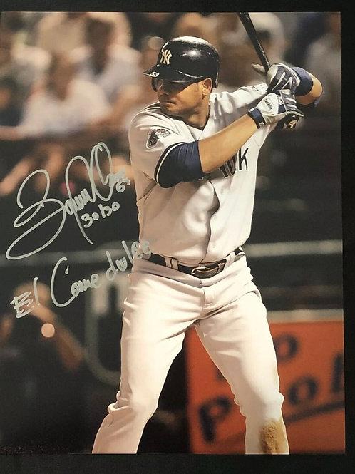 Bobby Abreu Hand Signed New York Yankees 11x14 w/ El Comodulce INSCRIPTION