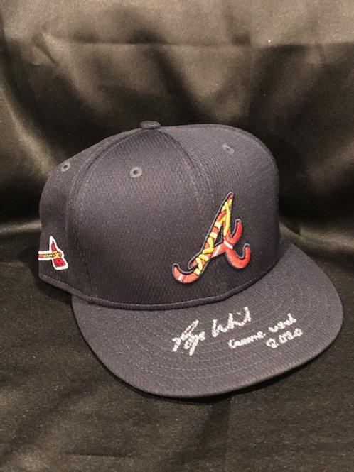 Bryse Wilson Game Used 2020 Season Atlanta Braves New Era Hat (3)
