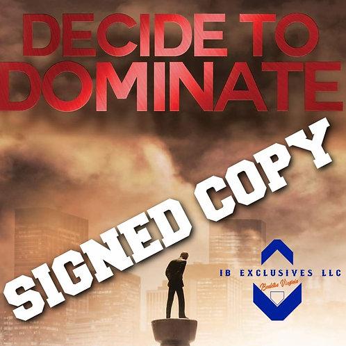 D.J. Dozier -  Decide To Dominate SIGNED Book