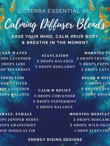 Calming Diffuser Blends
