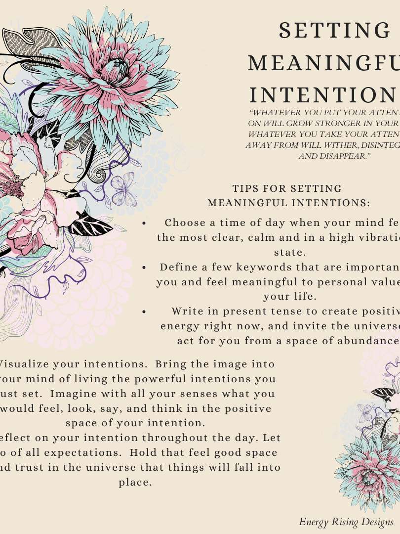 Setting Intentions