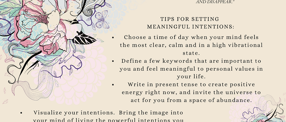 Setting Meaningful Intentions