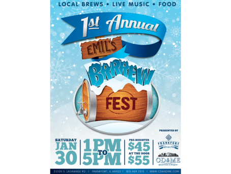 CD and ME and Frankfort Spirits to Host 1st Annual Emil's Winter Brrrew Fest