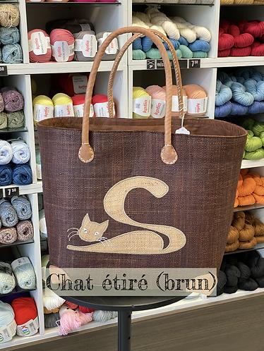Chat étiré (brun)/grand