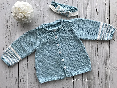 Cardigan + bandeau 18 mois