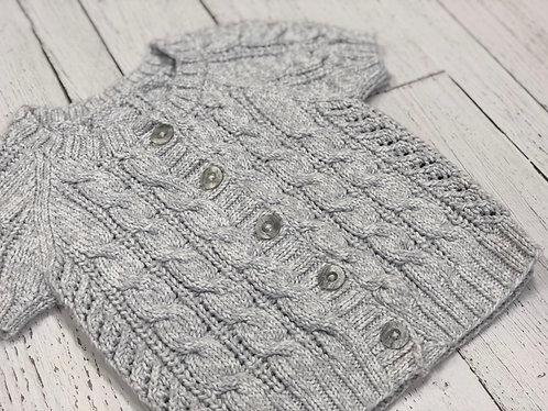 Cabled cardigan (6 years)