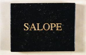 Plaque mortuaire Salope