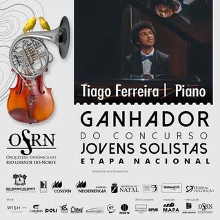 "Músico potiguar vence ""Concurso Jovens Solistas - Etapa Nacional"" da Orquestra Sinfônica do Rio Gran"