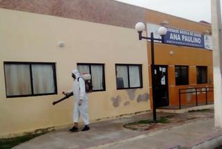 Prefeitura de Areia Branca segue com desinfecção para combater a disseminação do novo coronavírus